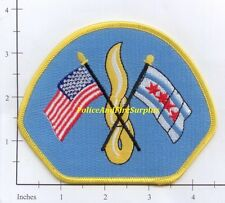 Illinois - Chicago IL Fire Dept Patch v7 - Flags with Flame
