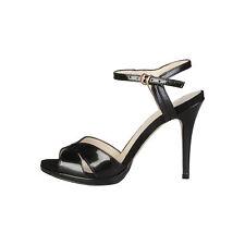 Made in Italia - sandalias Perla negro -altura Tacón 10cm- 36