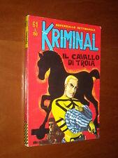 KRIMINAL n. 61 - IL CAVALLO DI TROIA - EDICOLA - Magnus & Bunker - ago. 1966