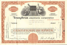 Transitron Electronic Corporation > David Bakalar transistor stock certificate