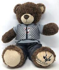 "Build A Bear Factory St Louis Zoo 16"" Teddy Bear Stuffed Plush RARE EUC Clothes"