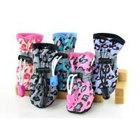 4Pcs Pet Dog Cat Waterproof Boots Booties Puppy Anti-Slip Rain Protective Shoes