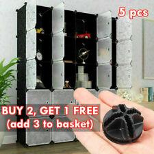 DIY Modular Cube Shelving Wardrobe Storage Unit Organizer Stackable Doors