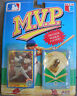 GREG VAUGHN1990 MVP Collector Pin Premier Rookie Edition w/ Score Baseball Card