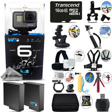 GoPro Hero 6 Black 4K Ultra HD Camera + Extra Battery & Much More! - 16GB Kit