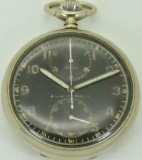 German Navy Kriegsmarine officer's black dial Chronograph Alpina pocket watch