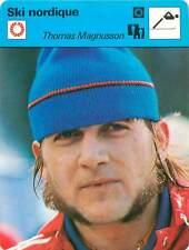 FICHE CARD: Thomas Magnusson Suède Fondeur Nordic skiing SKI NORDIQUE 1970s