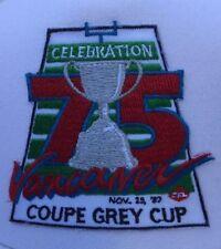 Vtg 1987 CFL 75th Grey Cup Edmonton Eskimos Vs Argos Snapback Hat Trucker