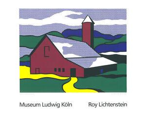 Roy Lichtenstein - Red Barn II - Kunstdruck auf schwerem Papier