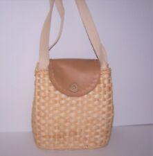 Straw Woven Basket Purse Handbag Wicker Country Boho