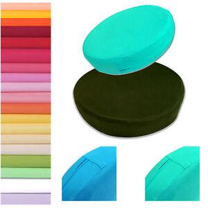 Box Round Shape Cover*100% Pure Cotton bed Soft Fine Cushion Case Custom Size