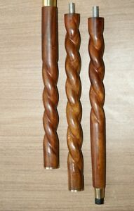 """Vintage Style Brown Wooden Walking Stick Twisted Cane 36 to 37"""" (Approx)"""