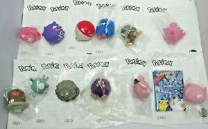 Full Set of 13 Pokemon Burger King 1999 Spinners - (1434)
