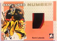 2006-07 ITG Heroes & Prospects Game-Used Number Kevin Lalonde Vault Silver 1/1