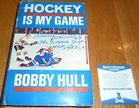 BECKETT BOBBY HULL HOF 1983-THE GOLDEN JET SIGNED HOCKEY IS MY GAME H/C BOOK 735