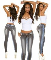 New Women Skinny Jeans Clubbing Ladies Stretch Denim Trouser Size 6 8 10 12 14