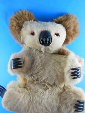 Koala Bear Hard stuffed Glass Eyes Australia unique 2 tone soft real fur Vintage