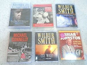 6 x Audio Cassettes Master & Commander Cry Wolf Sound of Thunder Brian Johnston