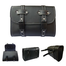 DEFY Motorcycle Synthetic Leather Tool Bags Sissy Bar Bags Saddle Bag Storage