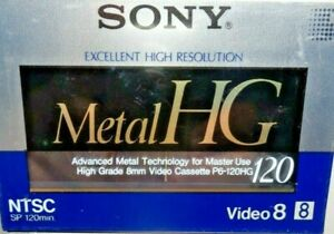 Sony P6-120HG Metal HG 8mm Video Tapes New-Factory Sealed!