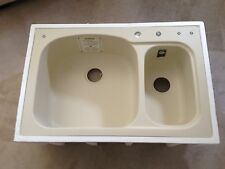 """Swanstone KSLS-3322  33"""" by 22"""" Large/Small Bowl Kitchen Sink Color  NEW BONE-37"""