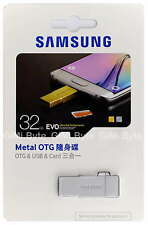 SAMSUNG 32 GB EVO micro SDHC Metal OTG USB card reader drive 32G S6 edge silver