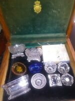 Lot 43 Early 20th Century Salt Cellars Czech, Full Sets, masters, 5 Spoons