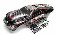1/10 Brushless E-REVO BODY shell (BLACK & GREY & Decals stickers Traxxas 5608