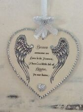 Wooden heart plaque. Because someone we love is in heaven keepsake memory gift