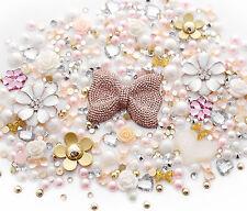 Gold Goddess Sparkle Cabochon Rhinestone Pearl Set Kit DIY Decoden Kawaii Craft