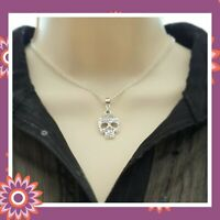 Silver Sugar Skull Necklace Day of the Dead Gothic Chain Pendant Present Gift