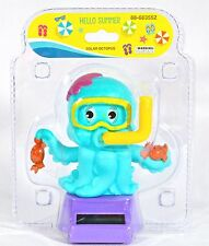 Solar Powered Dancing Blue Octopus