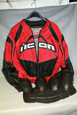 Icon Contra Motorcycle Riding Jacket Size XL w/ Pads