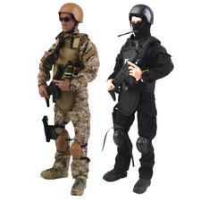 1//6 Scala Soldato vestiti modello speciale di armi e tattiche ANTITERRORISMO unità Blue uniforme da combattimento