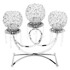 Votive Candle Holder 3-Arm Candelabra Wedding Party Table Centerpiece Silver