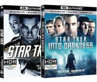 STAR TREK + STAR TREK: Into Darkness (4 BLU-RAY 4K + 2K) DEFINIZIONE ULTRA HD