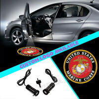 2x USMC United States Marine Corps Logo Car Door Laser Projector CREE LED Lights