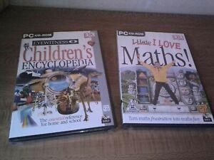Bundle I Love Maths! PC cd rom & Children's Encyclopedia windows DK GSP