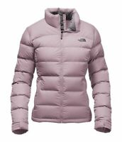 The North Face Womens Nuptse 2 II Puffer Down Jacket Quail Grey Pink Size Large