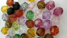 50g Acrylic Plastic Faceted Round Beads - K5218 / 6mm