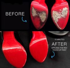 Paint To Restore Christian Louboutin Shoes Red Bottoms Red Soles Re-finish