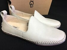 UGG Australia Delfina Wool Lined Leather Slippers 1014871 Canvas Women's Shoes