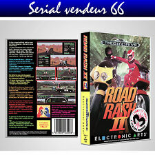 "BOX, CASE ""ROAD RASH 2"". MEGADRIVE. BOX + COVER PRINTED. NO GAME. MULTILINGUAL."