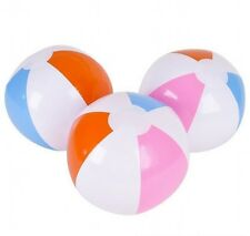 10 x INFLATABLE BLOW UP, PANEL  36cm  BEACH BALL HOLIDAY SWIMMING PARTY GAMES