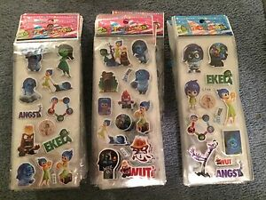 Inside out  sticker sheets buy 5 get 5 free stickers party supplies  NEW