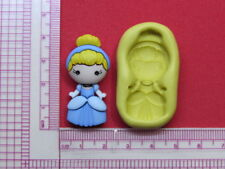 Princess Cinderella Silicone Mold A959 Acrylic Resin for Edible Candy Wax Soap