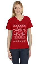 Ugly Christmas Volleyball - Fans / Player Holiday V-Neck Fitted Women T-Shirt