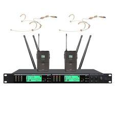 Wireless Headset Microphones system True Diversity UHF for wireless mics