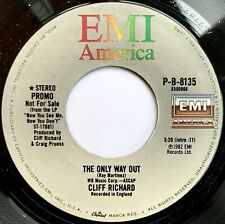 CLIFF RICHARD The Only Way Out VINYL SINGLE Original 1980 PROMO American Issue