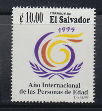 El Salvador 1999 Year of the Aged Sc 1523 Mint Never Hinged